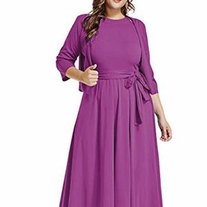 Fuchsia Dress with Cardigan XL New